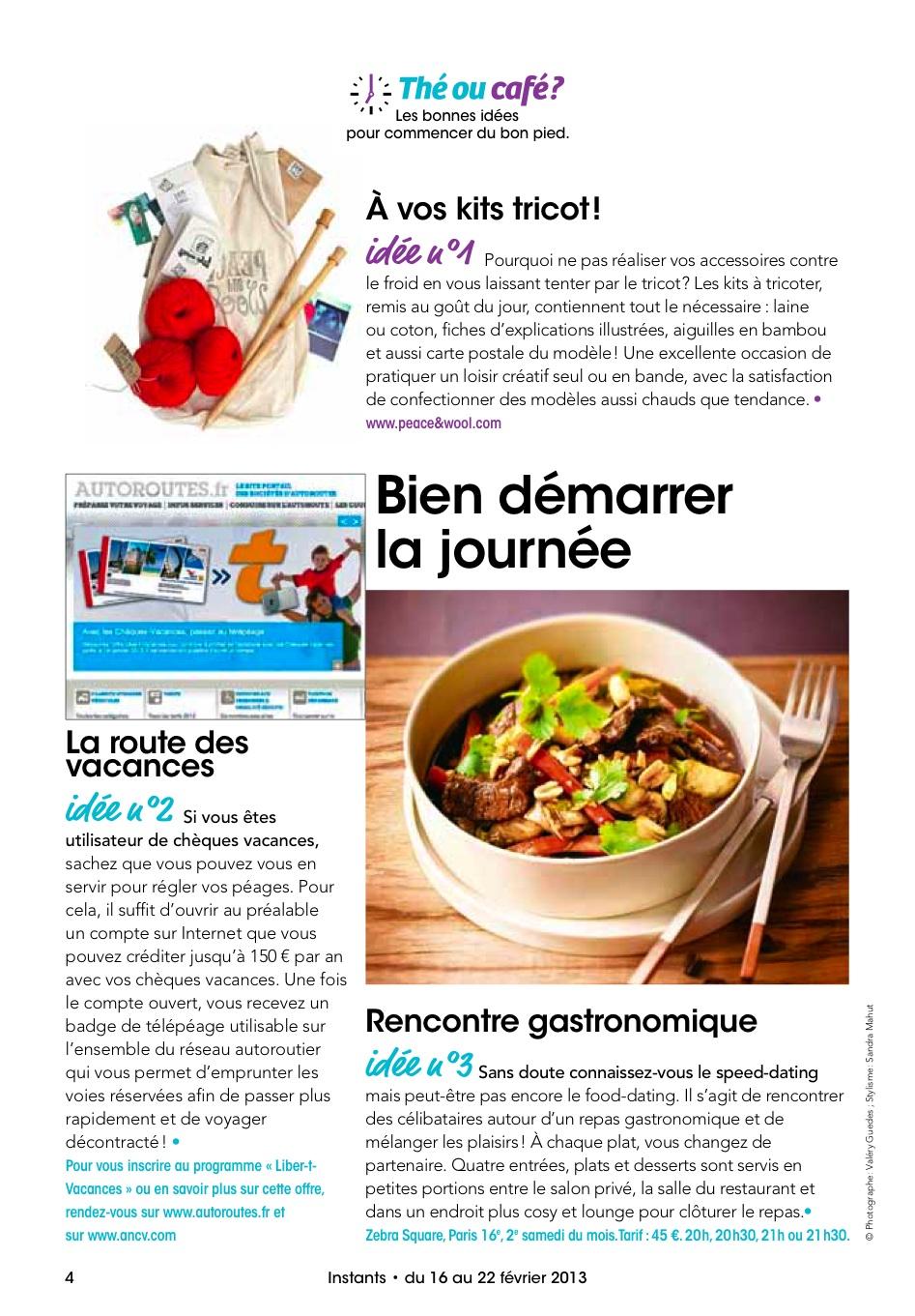 Peace & Wool est dans le magazine INSTANT